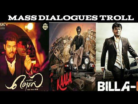 Tamil Mass Dialogues Troll - vijay, Ajith, Rajini