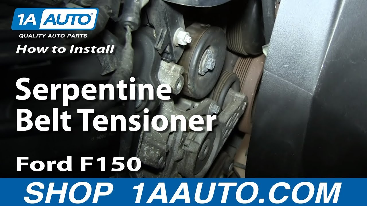 how to install replace serpentine belt tensioner 2004
