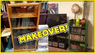 Simple & Easy Furniture Makeover Project - How To Refinish Wood Furniture - Living Room Decor Idea