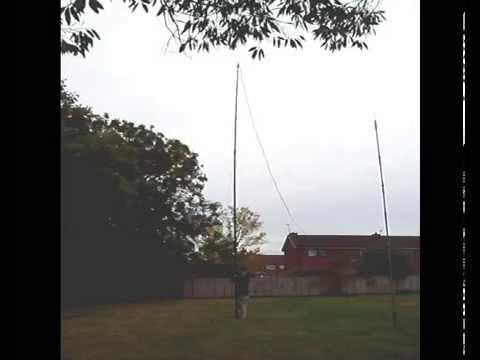 My Racal 714 12 meter mast with an 80m dipole test - M6RKY - 2E0RKY