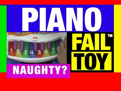 Funny Video, Fail Toys Fisher Price Baby Grand Piano Mike Mozart @JeepersMedia on YouTube