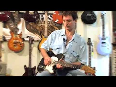 Olaf shows off on PRS Johnny Hiland vs. Haar Tele relic