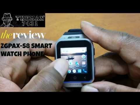 ZGPAX-S8 SMART WATCH PHONE ( REVIEW )