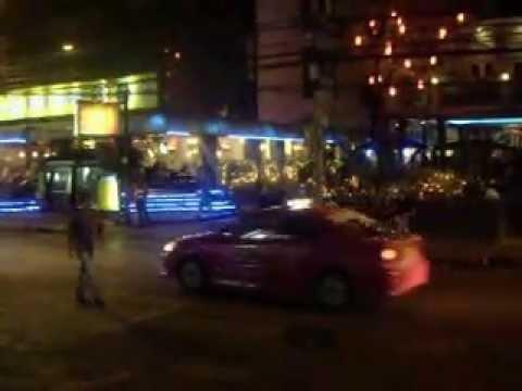 Bangkok Sukhumvit road by NIGHT.