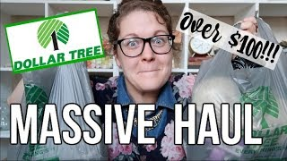 DOLLAR TREE HAUL | SHOP WITH ME | OVER $100!!!