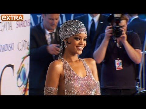 Rihanna Rocks Shockingly Sheer Swarovski Crystal Dress at CFDA Awards