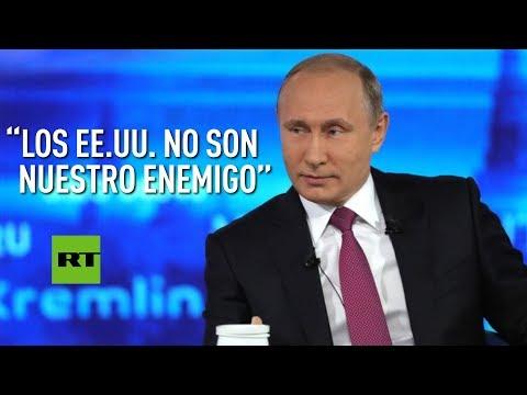 """Putin: """"Los EE.UU. no son nuestro enemigo"""""""