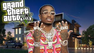 QUAVO GOES MANSION SHOPPING IN GTA 5!!!  (REAL LIFE PC MODS)