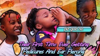 SURPRISING MY KIDS WITH THEIR FIRST EVER PEDICURES AND EAR PIERCINGS!