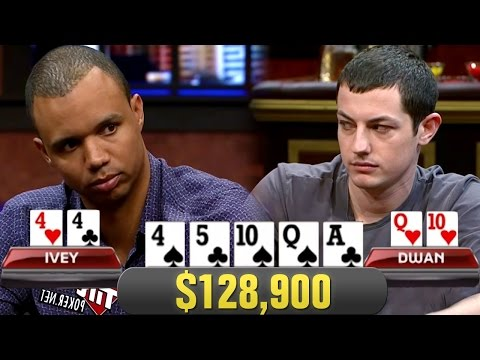Phil Ivey FLOPS SET On Tom Dwan In $128,900 Pot!