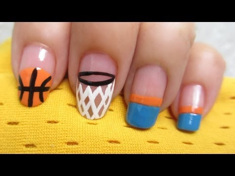 Basketball Nail Art