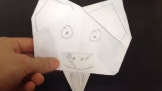 Faire Une Tte De Chat En Papier - Chat Origami
