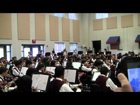 Alton C. Crews Middle School 8th grade Fall Orchestra Concert - Sept. 2012 Song - Conquistador