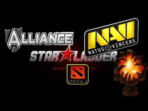 Финал NaVi vs Alliance #1 (19.01.14) Grand Final Starladder 8 Dota 2 (RUS) SLTV