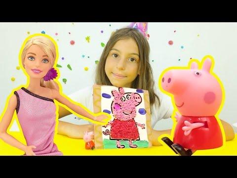 Видео для девочек. Поделки с Барби и Свинкой Пеппой