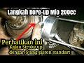 Bore up Mio 200cc | cara papas coak piston | Test sebelum dikirim ke Kendari, SulTra