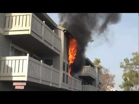 South Pointe Apartment Fire Costa Mesa 2012