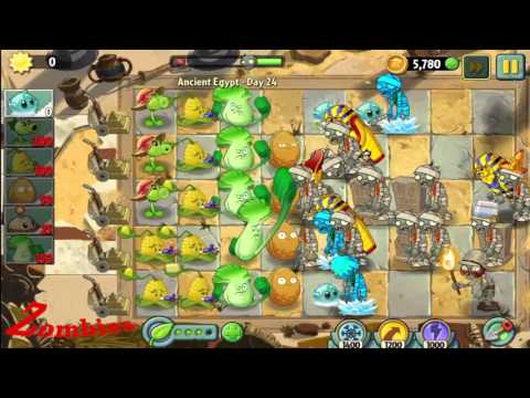 Plants vs. Zombies 2:  It's About Time - Ancient Egypt - Gameplay Walkthrough Part 19/1000