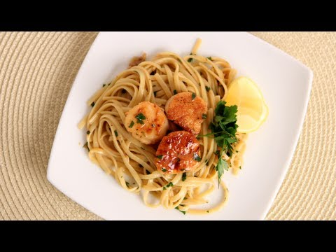 Scallop Scampi over Linguine Recipe - Laura Vitale - Laura in the Kitchen Episode 534