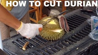 How to cut and open Durian Fruit