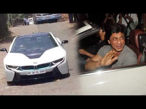 WOW! Shah Rukh Khan Takes His New BMW i8 For A Spin