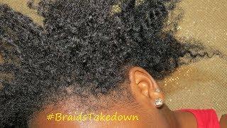Taking Down 2 Week Old Braids + Mini Length Check