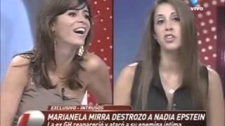 Marianela Mirra y Nadia Epstein: picante cruce en Intrusos, a siete años de Gran Hermano