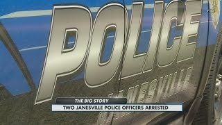 Two Janesville police officers arrested