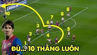 9 Điều giật mình khi xem cách Messi xử lí bóng khiến ai cũng phải nể sợ