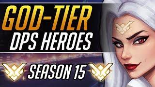MOST OP DPS HEROES in Season 15 - Tips to hit GRANDMASTER | Overwatch Gameplay Guide