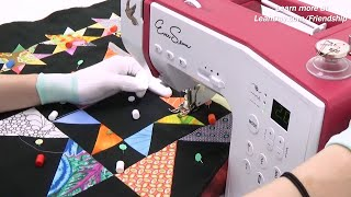 Quilt a Scrappy Star Quilt Block on Your Home Machine
