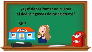 Cómo deducir gastos de colegiatura. castillocontadores.mx