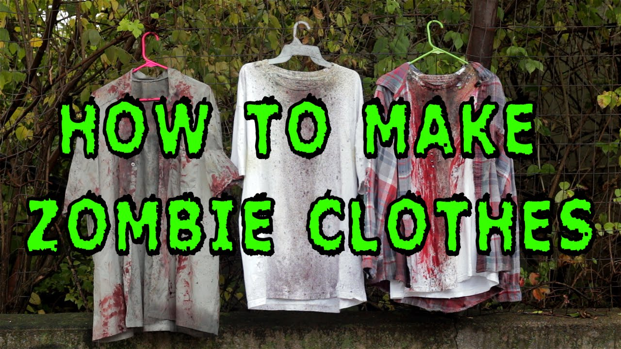 Diy How To Make Zombie Clothes Youtube