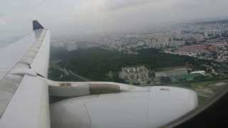 Singapore Airlines a330-300 Landing At Changi Airport Smooth Landing (1080p)