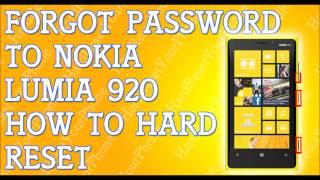 download lagu Forgot Password Lumia 920 How To Hard Reset Nokia gratis