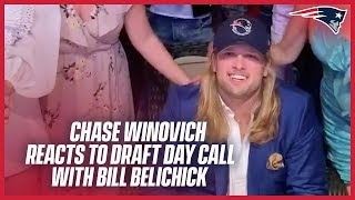 The moment Chase Winovich was drafted by the Patriots