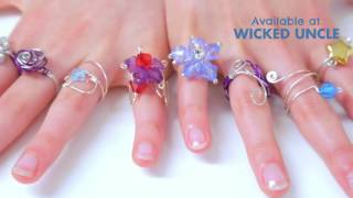 My Style Wire Craft Rings - Available at Wicked Uncle
