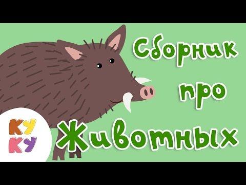 КУКУТИКИ - Сборник из 5 песенок Про Животных - развивающие песенки для детей малышей