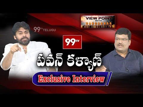 Pawan Kalyan Exclusive Interview | View Point with Gangadhar | #Janasena | 99TV Telugu