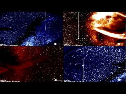 JAN 23, 2012: Long Duration M9-Class Solar Flare (Sunspot 1402) Proton Showers & CME Impacts Earth