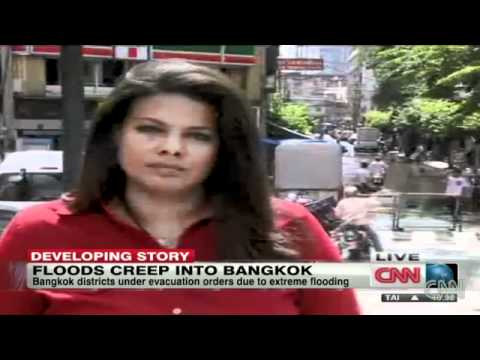 Flood waters down in Bangkok.flv