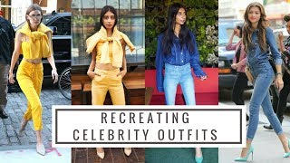 I RECREATED CELEBRITY OUTFITS/ LOOK FOR LESS/ Kendall, Gigi, Selena