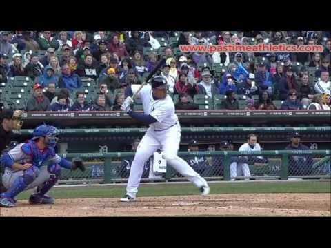 Miguel Cabrera Slow Motion Baseball Swing - Hitting Mechanics HR Detroit Tigers MLB MVP Tips