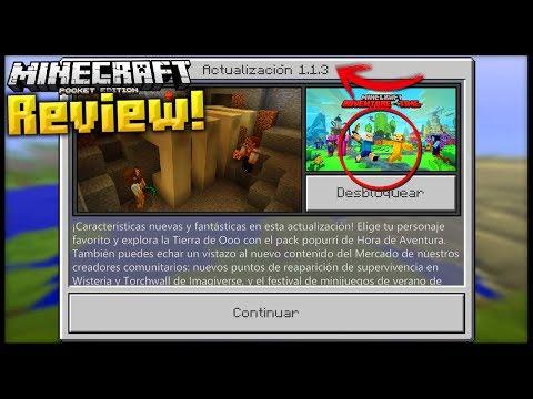 SALIO NUEVA VERSION DE Minecraft PE 1.1.3! - REVIEW en ESPAÑOL - Todo lo NUEVO!