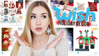 TRYING HOLIDAY DECORATIONS FROM WISH!!