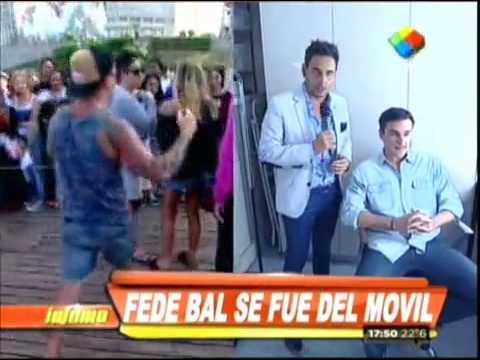 Federico Bal se ofendió y abandonó un móvil de Infama