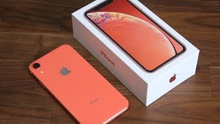 iPhone Xr Unboxing, First Time Setup and Review (Coral Color)