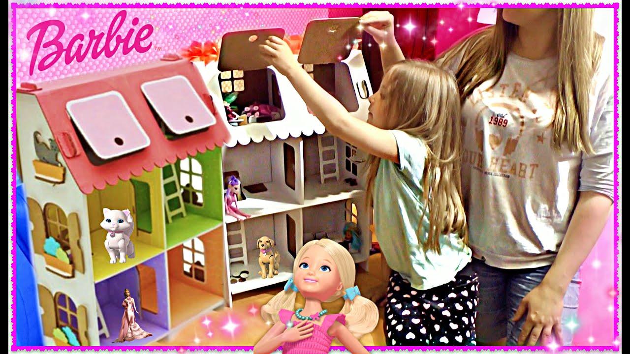 Кукольные домик своими руками для барби 691