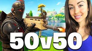 NEW 50 vs 50 MODE LIVE!! (Fortnite Battle Royale)