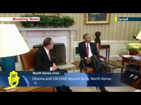 North Korea Crisis: Obama and UN chief say it's time to 'lower temperatures'